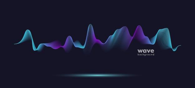 Fundo da linha do gradiente da onda do movimento do som abstrato.