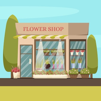 Fundo da loja de flores
