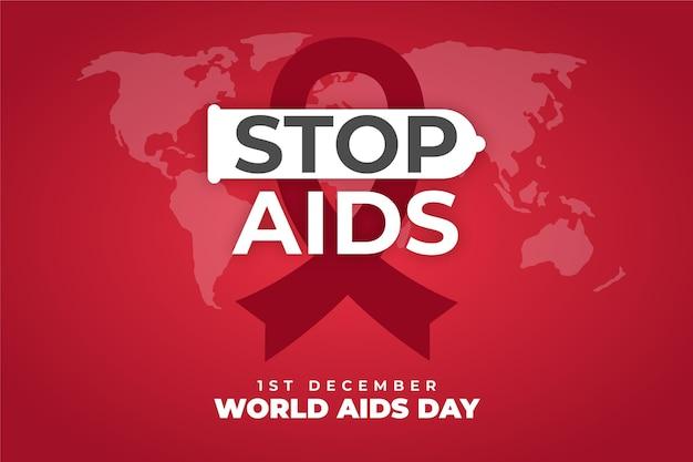 Fundo da mensagem de parar aids