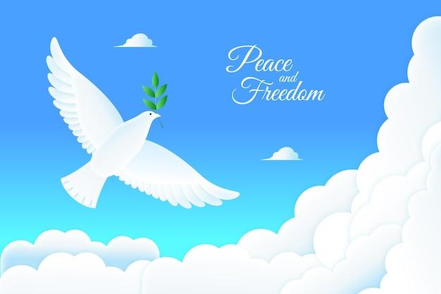 Fundo da mensagem de paz e liberdade