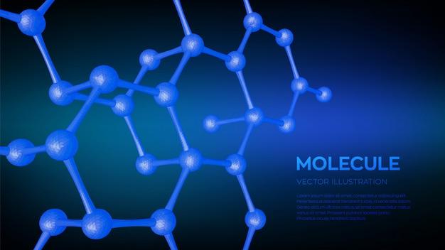 Fundo da molécula científica 3d.