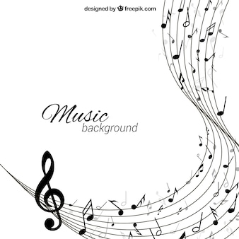 Fundo da música no estilo abstrato