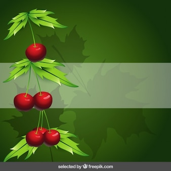 Fundo da natureza com cerejas