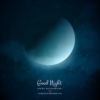 Fundo da noite da lua