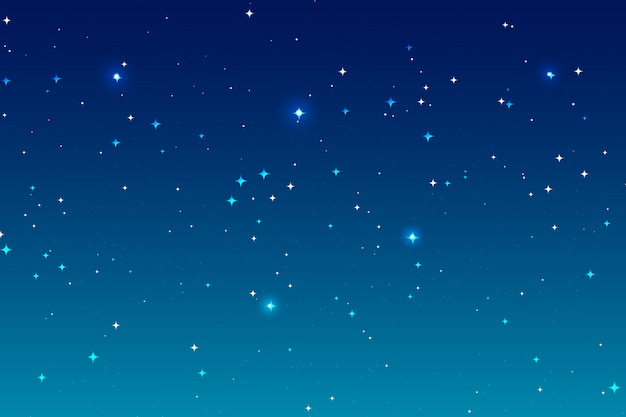 Fundo da noite do céu e muitas estrelas.