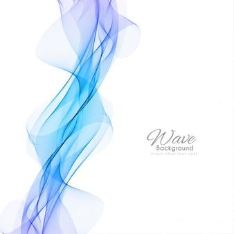 Fundo da onda azul elegante moderno