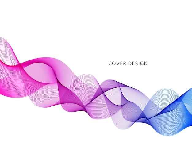 Fundo da onda. bandeira ondulada abstrata. flyer com linhas curvas de fluxo. cubra com gradiente de fluido.