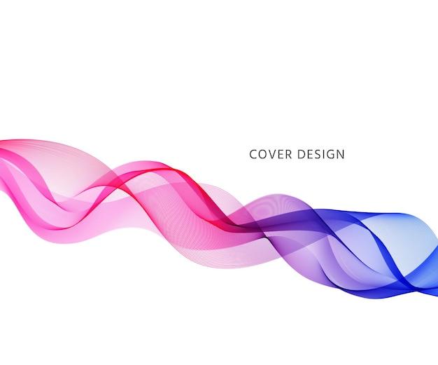 Fundo da onda. bandeira ondulada abstrata. pano de fundo com linhas de fluxo curvas. ilustração
