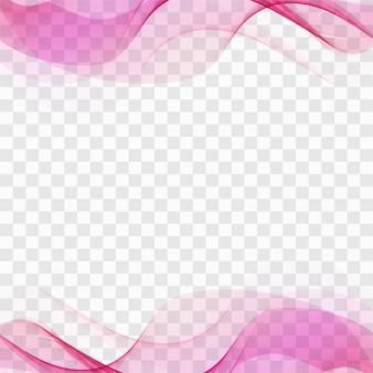 Fundo da onda rosa