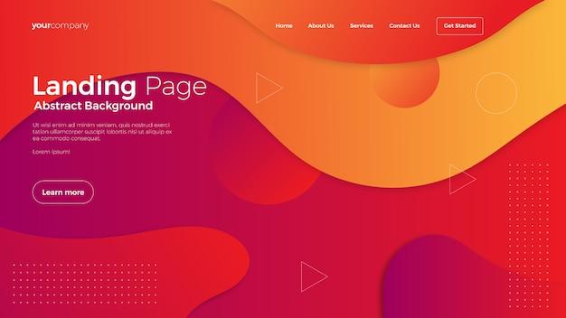 Fundo da página de destino do site