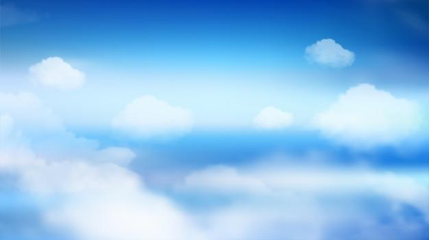 Fundo da paisagem da natureza do céu. vetor eps10.