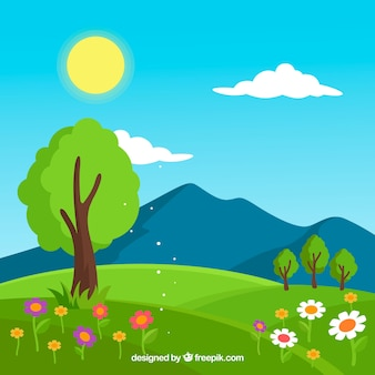 Fundo da paisagem da primavera