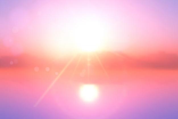 Fundo da paisagem do por do sol