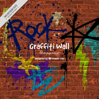 Fundo da parede com graffitis