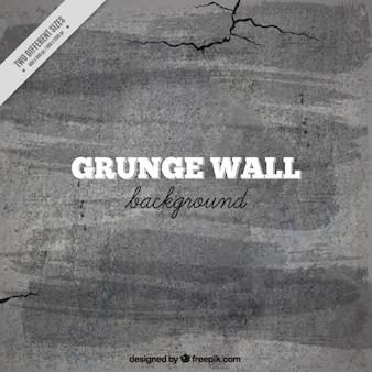 Fundo da parede de cimento com rachaduras