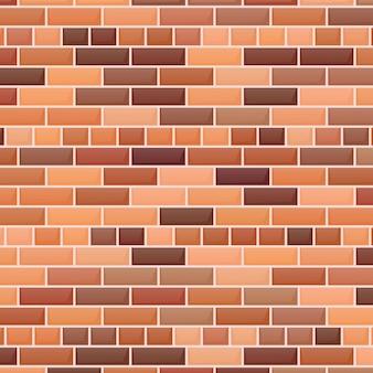 Fundo da parede de tijolo vermelho. ilustração vetorial