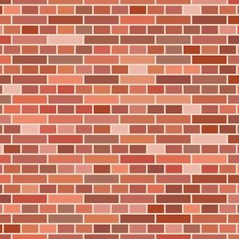 Fundo da parede de tijolo vermelho. ilustração vetorial Vetor Premium