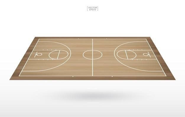 Fundo da quadra de basquete