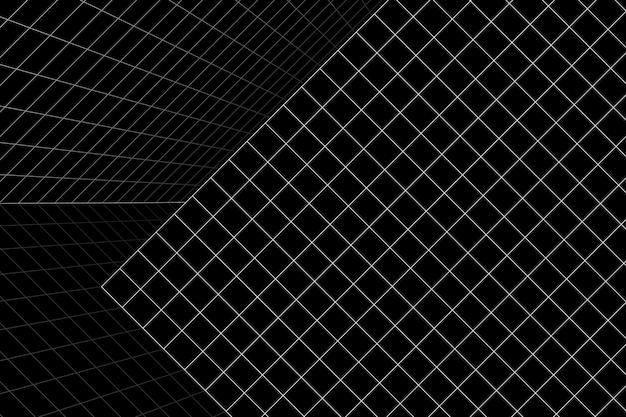 Fundo da sala de grade de wireframe 3d