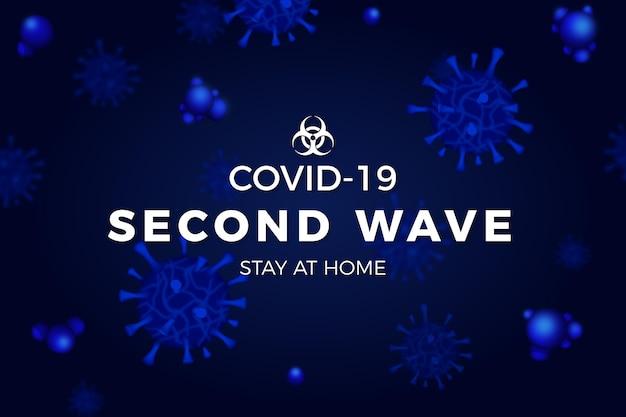 Fundo da segunda onda do coronavírus