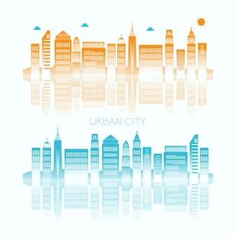 Fundo da skyline da cidade