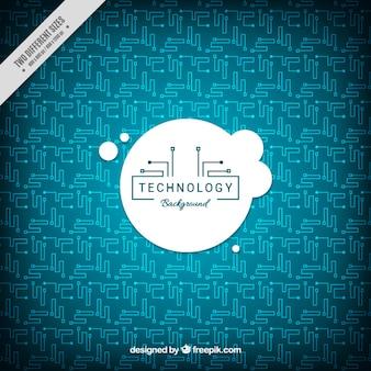 Fundo da tecnologia com circuitos em design plano