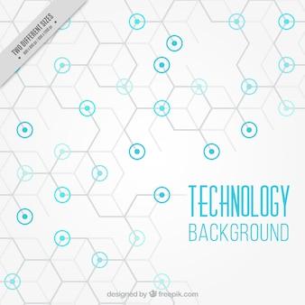 Fundo da tecnologia com círculos azuis