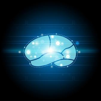 Fundo da tecnologia do cérebro digital