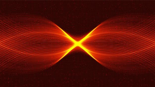 Fundo da tecnologia waving sound wave