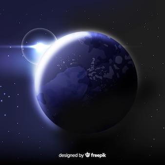 Fundo da terra no espaço