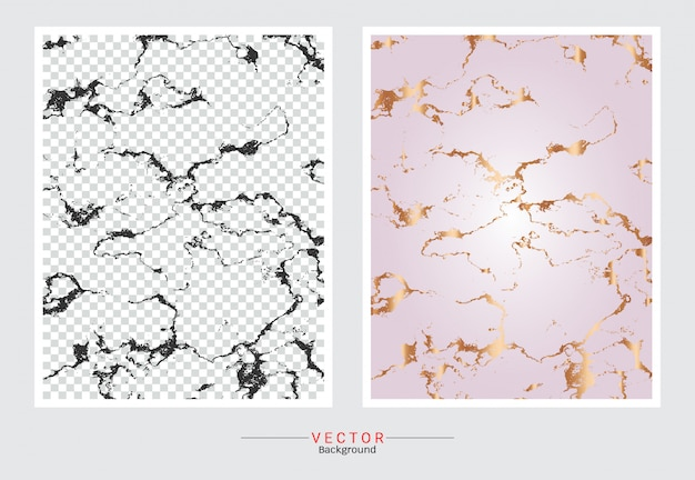 Fundo da textura do mármore do ouro de rosa.