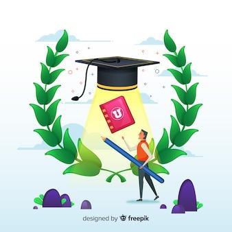 Fundo da universidade plana