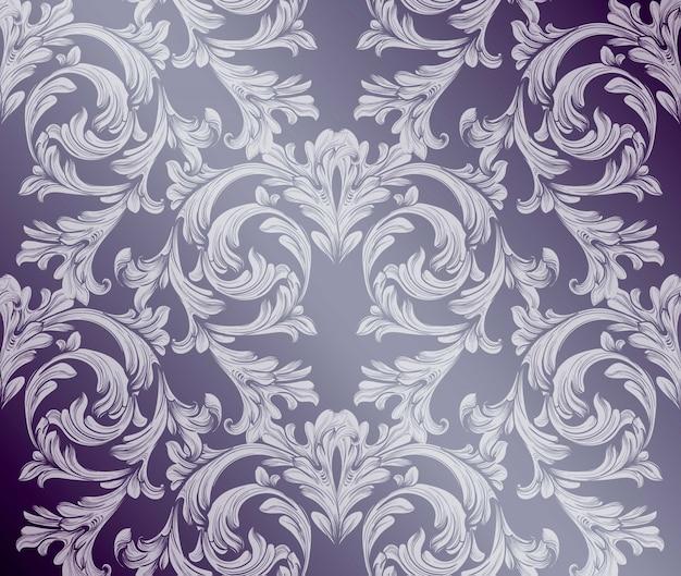 Fundo damasco barroco. ornament decor para convite, casamento, cartões de saudação. ilustrações vetoriais