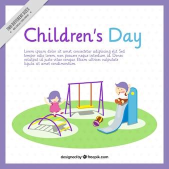 Fundo das crianças que brincam no parque