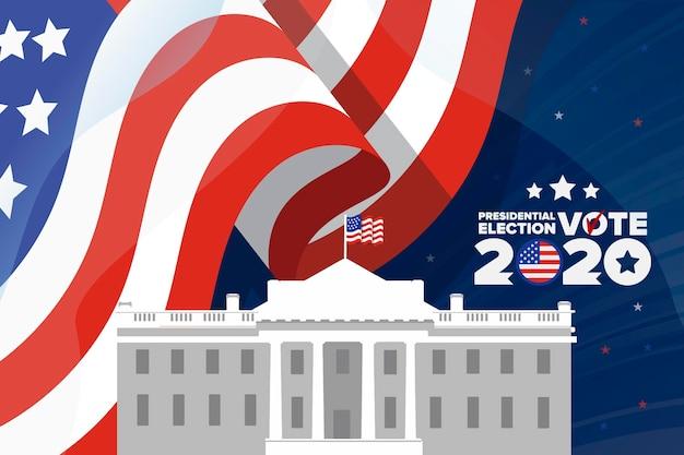Fundo das eleições presidenciais de 2020 nos eua
