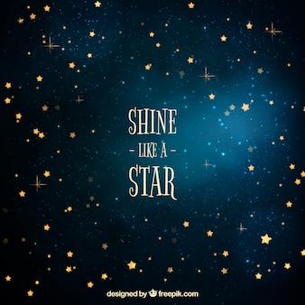 Fundo das estrelas douradas