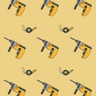 Fundo das ferramentas de construção