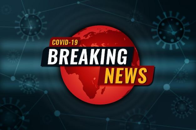 Fundo das últimas notícias sobre o coronavirus