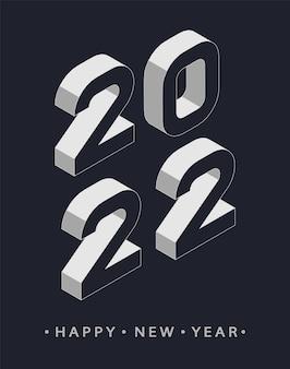 Fundo de 2022 feliz ano novo. design moderno de natal para folhetos, cartazes, sinal de decoração de negócios, folheto, cartão, banner, cartão postal. ilustração vetorial