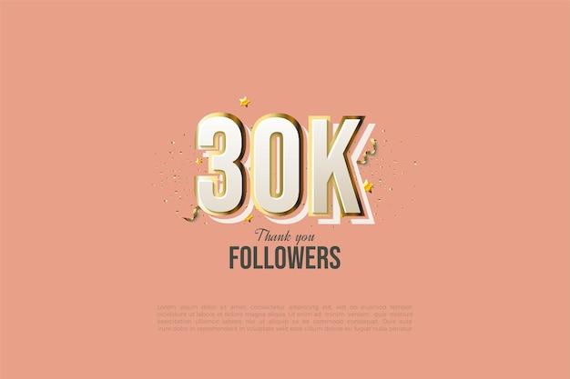 Fundo de 30k seguidores com modelo de graffiti de figura.