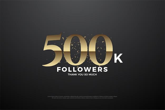 Fundo de 500 mil seguidores com números marrom dourado