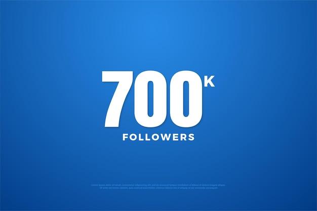 Fundo de 700 mil seguidores com números brancos puros