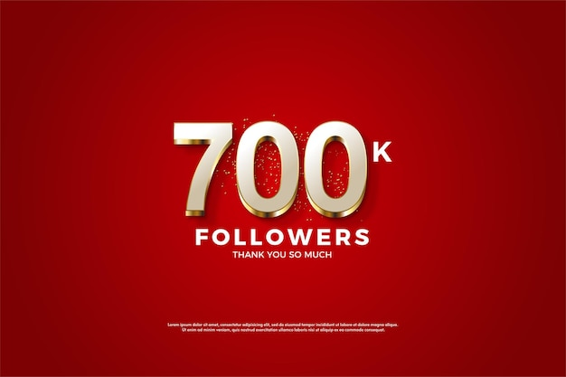 Fundo de 700 mil seguidores com números luxuosos folheados a ouro