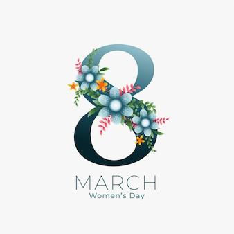 Fundo de 8 de março para o dia da mulher