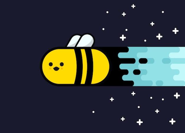 Fundo de abelha do espaço