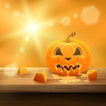 Fundo de abóbora de halloween.