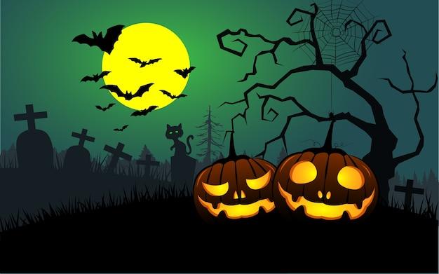 Fundo de abóboras de halloween.