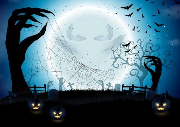 Fundo de abóboras de halloween
