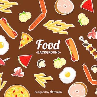 Fundo de adesivos de comida