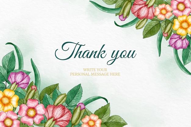 Fundo de agradecimento pintado à mão